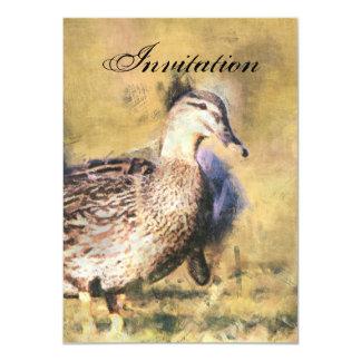 Duck Party Announcement Invitation