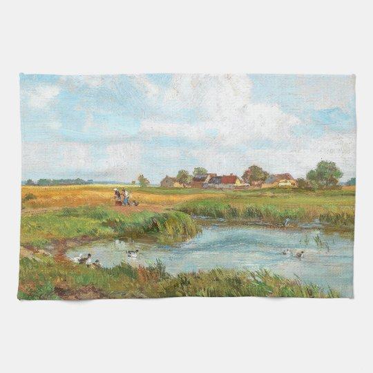 Duck Pond Birds Animals Farm  Field Kitchen Towel
