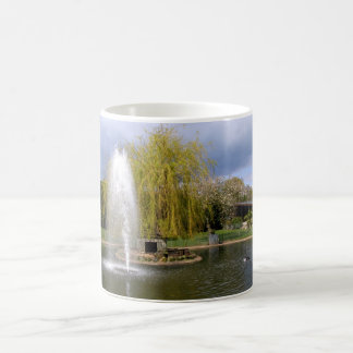 Duck pond in springtime coffee mug
