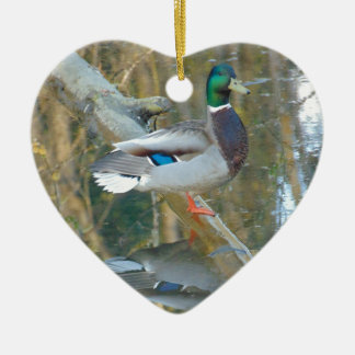 Duck Reflected Ceramic Ornament
