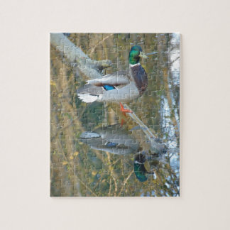 Duck Reflected Jigsaw Puzzle
