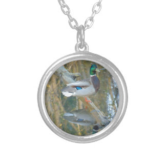 Duck Reflected Silver Plated Necklace