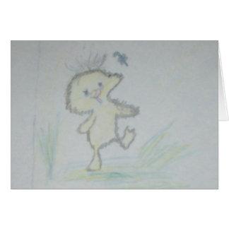 duck sketch card