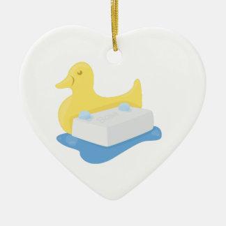 Duck & Soap Ceramic Ornament