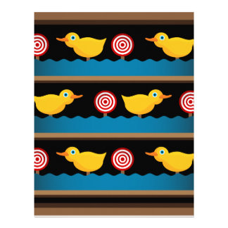 Duck Target Practice Shooting Gallery Personalized Letterhead