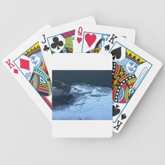 Duck Tracks In the Snow Bicycle Playing Cards