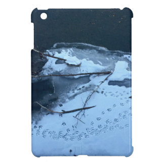 Duck Tracks In the Snow Cover For The iPad Mini