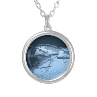 Duck Tracks In the Snow Silver Plated Necklace