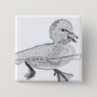 Duck Typography Pin