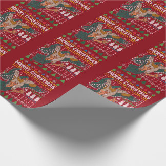 Duck Ugly Christmas Sweater Wildlife Series Wrapping Paper