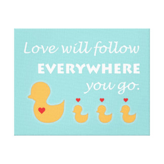 Duck Wall Art Stretched Canvas Prints