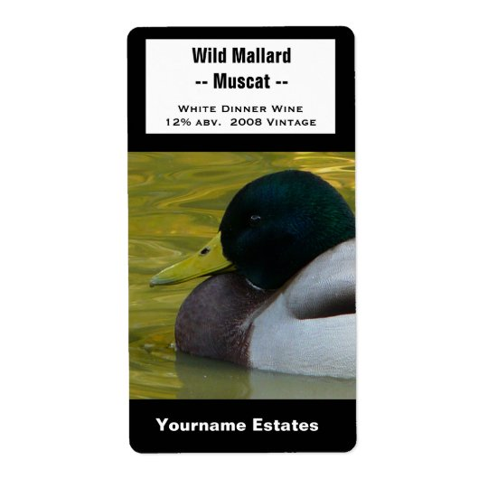 Duck Wine Label - Mallard Photo