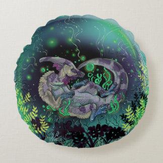 Duckbill Dinosaur Art Round Pillow