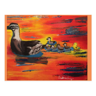 Duckie Sunset Postcard