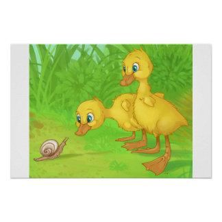 Duckings and the Snail Poster