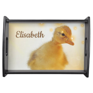 duckling, animal,Personalize this template Serving Tray