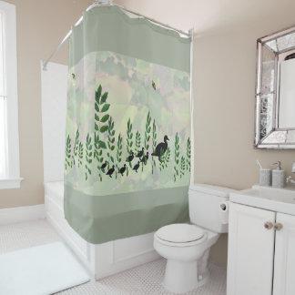 Duckling Crossing Shower Curtain