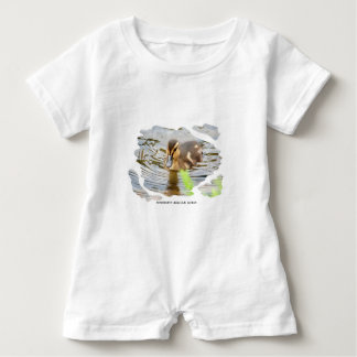 DUCKLING DUCK CHICKEN photo Jean Louis Glineur Baby Romper