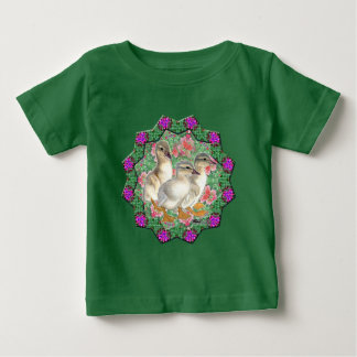 Ducklings and Flowers Baby T-Shirt