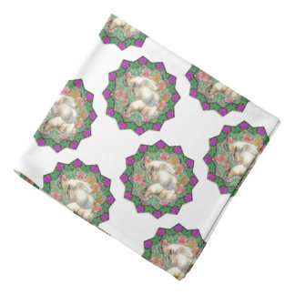 Ducklings and Flowers Bandana