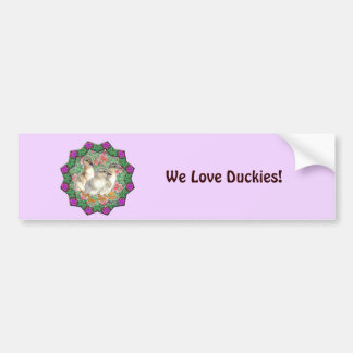 Ducklings and Flowers Bumper Sticker