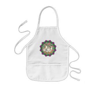 Ducklings and Flowers Kids Apron
