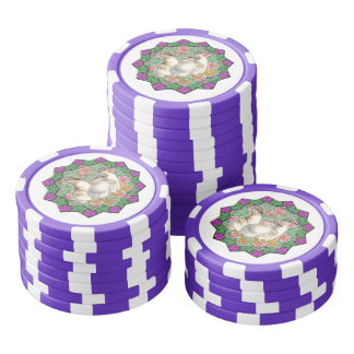 Ducklings and Flowers Poker Chip Set