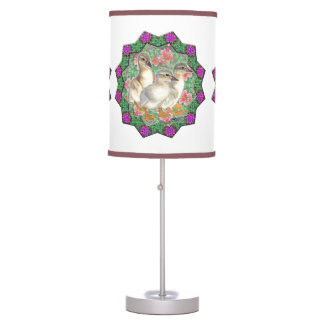 Ducklings and Flowers Table Lamp