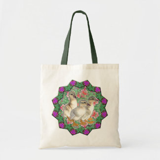Ducklings and Flowers Tote Bag