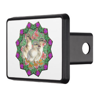 Ducklings and Flowers Trailer Hitch Cover