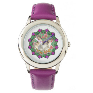 Ducklings and Flowers Wrist Watches