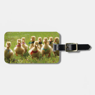 Ducklings with Bandanas Luggage Tag