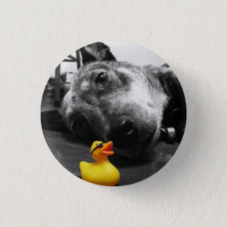 'Ducks Best Friend' Rubber Duck Button (small)