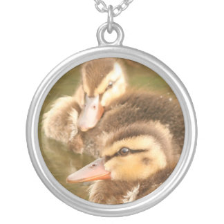 Ducks Birds Animals Wildlife Photography Silver Plated Necklace