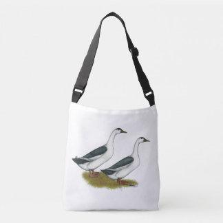Ducks:  Blue Magpies Crossbody Bag