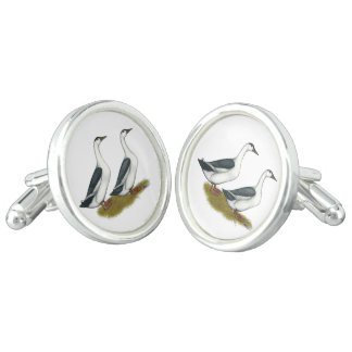 Ducks:  Blue Magpies Cuff Links