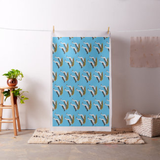 Ducks:  Blue Magpies Fabric