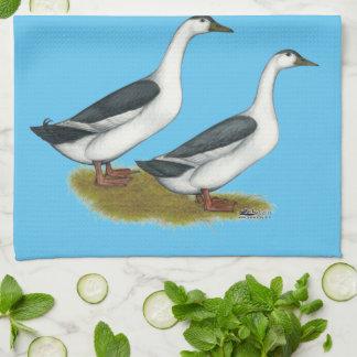 Ducks:  Blue Magpies Hand Towel