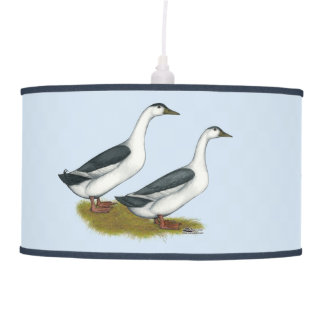 Ducks:  Blue Magpies Pendant Lamp