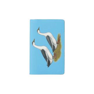Ducks:  Blue Magpies Pocket Moleskine Notebook