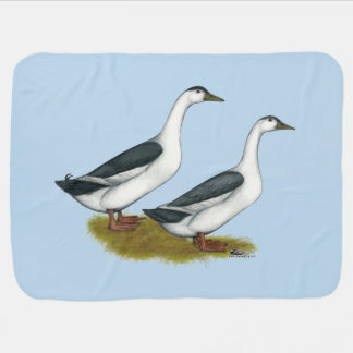 Ducks:  Blue Magpies Stroller Blankets