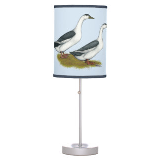 Ducks:  Blue Magpies Table Lamp