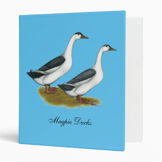 Ducks:  Blue Magpies Vinyl Binder