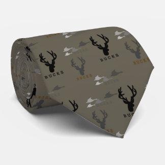 ducks & bucks Duck & Deer Hunting Pattern Necktie