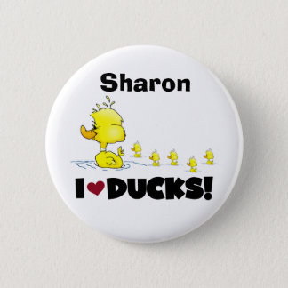 Ducks Duckie Yellow Duck Animals Kids Love Ducks 2 Inch Round Button