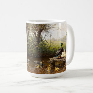 Ducks Ducklings Birds Pond Animal Wildlife Mug