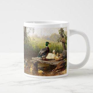 Ducks Ducklings Birds Pond Wildlife Jumbo Mug