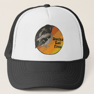 Ducks Eat Free Trucker Hat