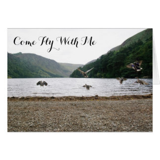 Ducks Fly Together in Glendalough Card