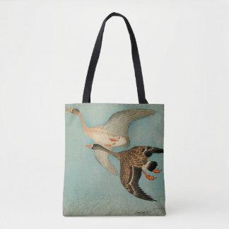 ducks flying, Japanese art Tote Bag